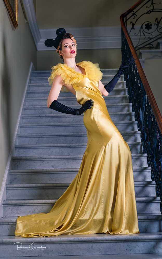 couture fashion stairway elegance (designer mishi may