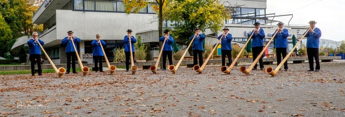 Zurich alpine horn players III
