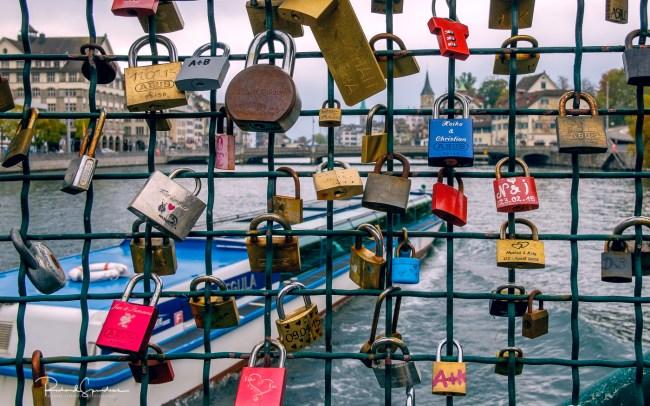 Zurich bridge locks II