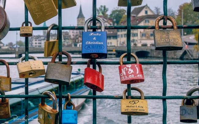 Zurich bridge locks