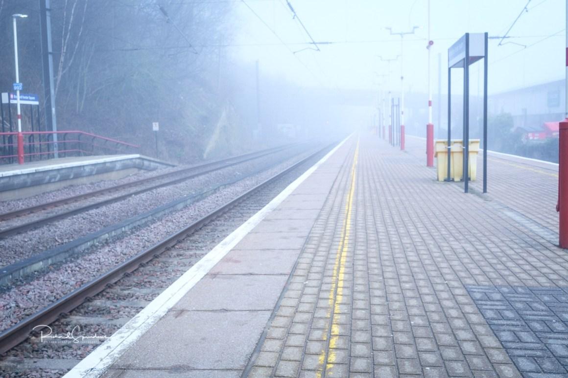 image shot at bradford foster square station on a mist april morning (april Images)