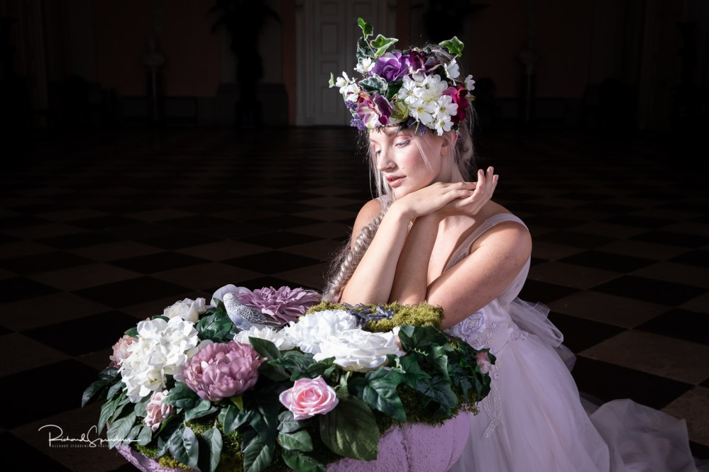 Image showing the floral head dress and floral mushrooms