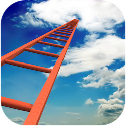 ladder-to-job-promotion-higher-level-clouds