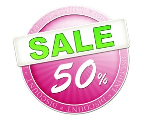 29869517 - an image of a useful sale button 50%