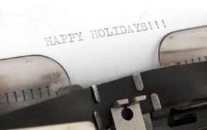 Happy Holidays in typewriter