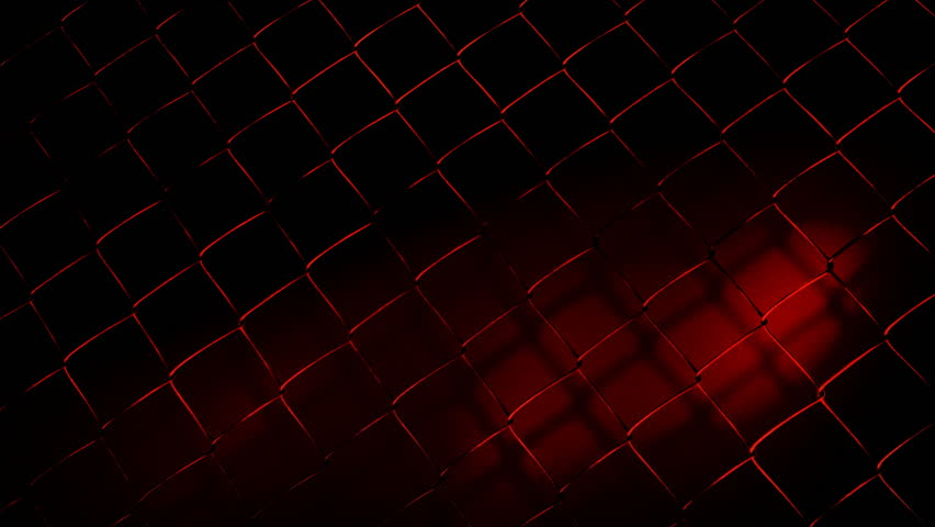chainlink fence-red on black