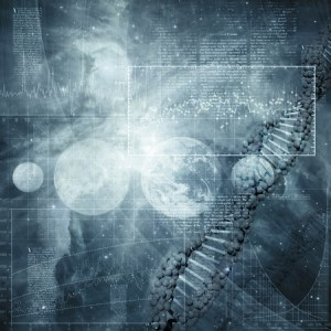 Consequences of gene splicing 58592001 - abstract science and technology backgrounds for your design