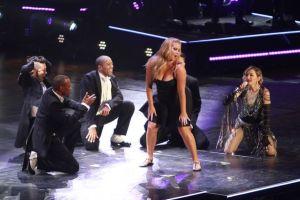 Madonna spanking Amy Schumer on stage