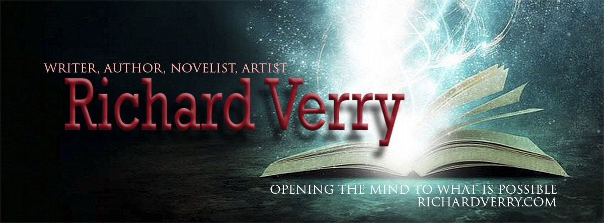 Writer, author, novelist, artist, Richard Verry, opening the mind to what is possible, abstract book