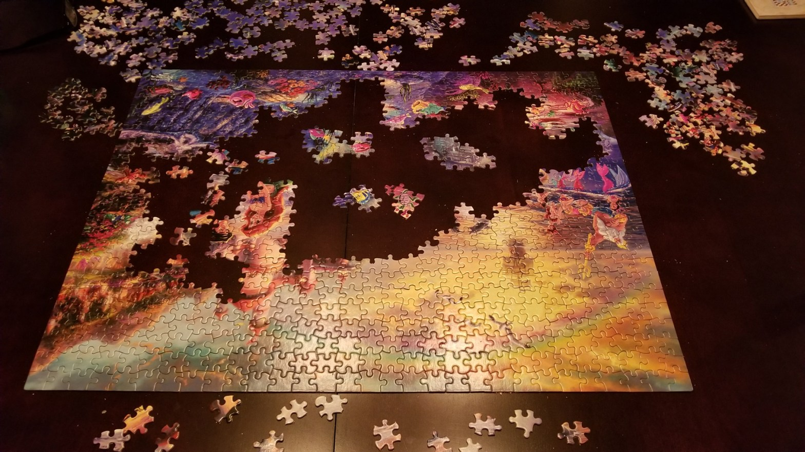 jigsaw puzzle upside down