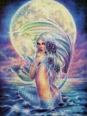 Fantasy Moon Mermaid jigsaw puzzles