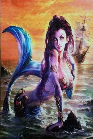 Sexy Mermaid and Sailboat