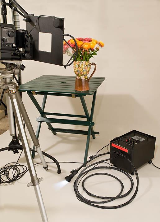 studio lighting with a hosemaster