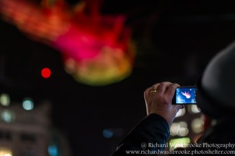 Janet Echelman Studio Echelmen, Lumiere London 16th January 2016 Images taken by Richard Washbrooke Photography