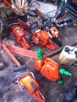 Power Tools - we talked about there being some newer batter powered saws that are coming on sale now. as an alternative to petrol