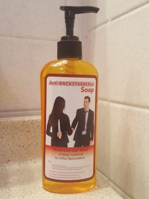 anti-backstabberial soap