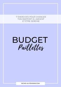 Budget paillettes Riche Au Féminin