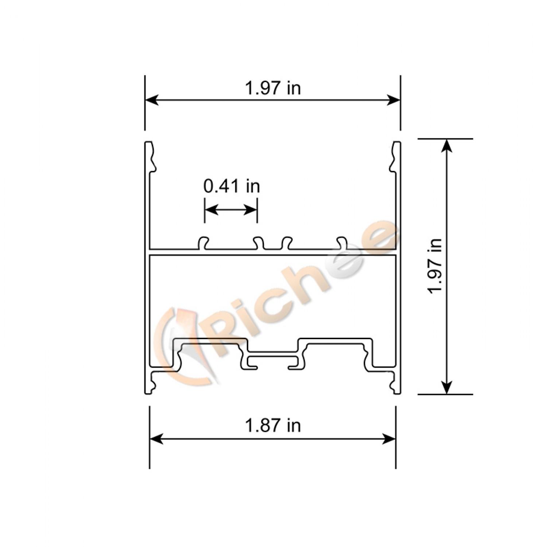 2 Pendant Led Aluminum Channel