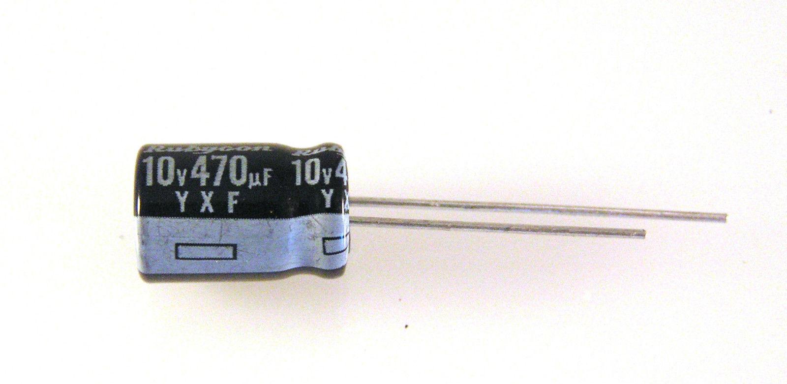 10 pcs Electrolytic Capacitors 470uF 50V 105℃ Radial