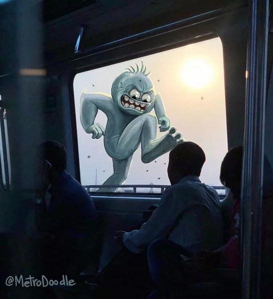 Doodles in Metro- Metro Doodle