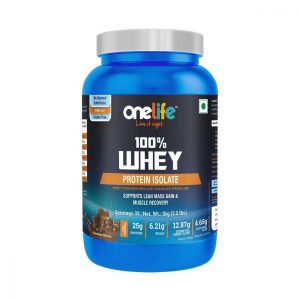 Onelife 100 Whey Protein Isolate Microfiltered Chocolate Flavour 1Kg Veg Sourced from USA With Digestive enzyme No Banned Substance GMOFree GlutenFree Muscle building  Muscle Recovery