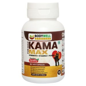 BODYWELL KamaMAX Male with GOLD   Prepared From 8 Pure Herbs For Strength Stamina  Energy   500 mg 60 Capsules  BODYWELL KamaMAX Male with GOLD