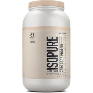 Isopure Whey Protein Isolate Unflavored 3 lb 1360 Kg  Isopure Whey Protein Isolate Unflavored 3 lb