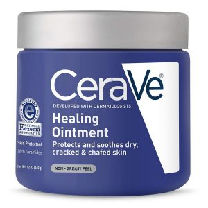 Cerave Healing Ointment   12 Ounce   Cracked Skin Repair Skin Protectant With Petrolatum Ceramides   Lanolin  Fragrance Free  CeraVe Healing Ointment l 12 Ounce l Cracked Skin Repair Skin Protectant with Petrolatum Ceramides l Lanolin Fragrance Free