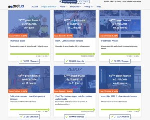Menú de crowdfunding crowdlending inversión Pretup