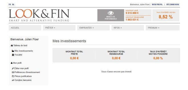 lookandfin looketfin crowdfunding menú principal belga crowdlending