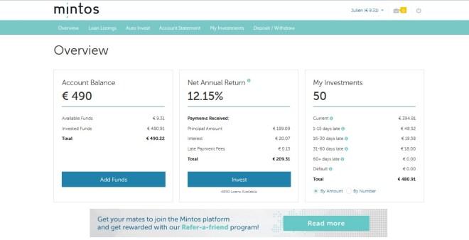 test avis mintos p2p crowdfunding inscription menu principal