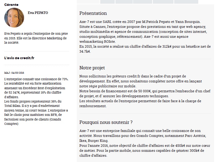credit.fr investment crowdfunding 23 investment project