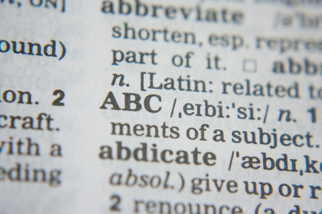 Dictionary, definitions