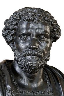 Septimius Severus, bronze bust, Bibliothèque Mazarine, Paris.