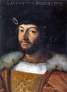 Portrait of Laurent II of Medici, by Raphael