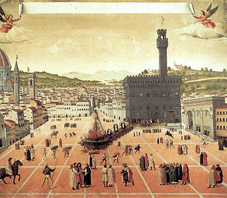 Savonarola bonfire, anonymous, 1498, Museum of San Marco, Venice.