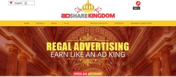 adsharekingdom ponzi scam arnaque 01