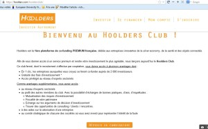 hoolders investissement crowdfunding innovation co-investissement 15 club