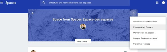 Google spaces spaces mode enploi 3