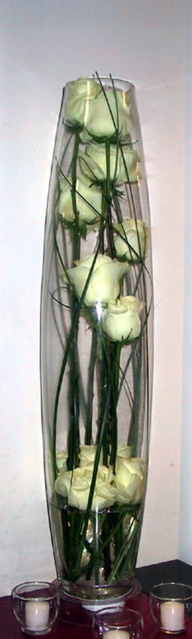 centerpiece caged rose