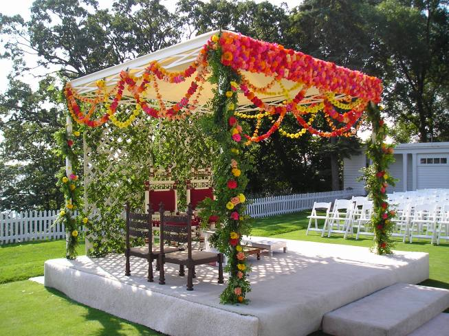 colorful mandap