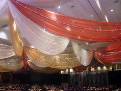 draping golden ceiling
