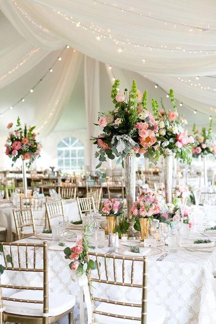 wedding tent floral decor