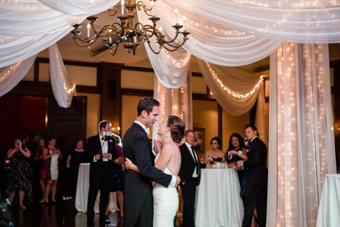 draping at a wedding