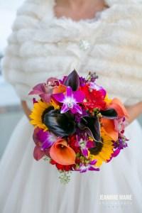 colorful wedding bouquet