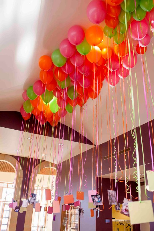 balloons and pictures for bat mitzvah
