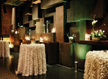 room with multiple centerpieces