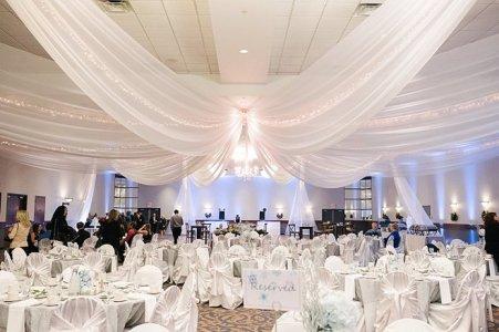 wedding reception drapery