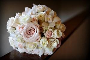 rose and iris pastel bouquet