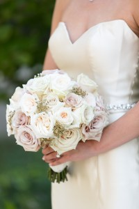 pale pastel wedding bouquet